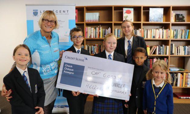 Régent Crans-Montana College: un beau chèque pour l'UNICEF