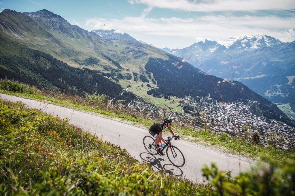 La descente finale sur Verbier. Photo Sportograf / Tour des Stations