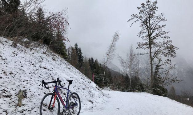 La piste de ski de fond…